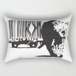Banksy Animal Rights Artwork, Jaguar Tiger Barcode Prints, Posters, Bags, Tshirts, Men, Women, Youth Rectangular Pillow