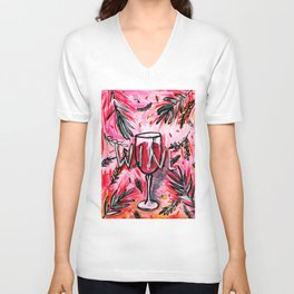 Ode to a red wine Unisex V-Neck