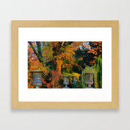 Autumn Urns Framed Art Print