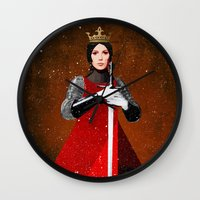 queen Wall Clocks featuring Queen by Ed Pires