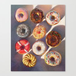 Colorful donuts Canvas Print