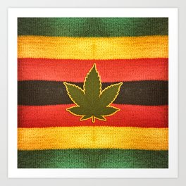 Rastafarian background Art Print