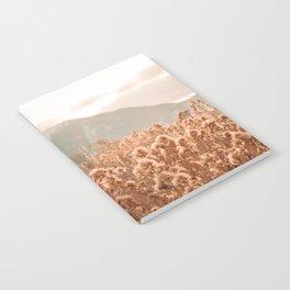 Golden Wheat Mountain // Yellow Heads of Grain Blurry Scenic Peak Notebook