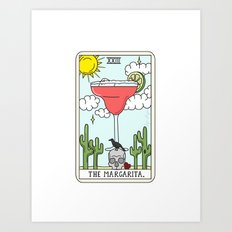 MARGARITA READING Art Print
