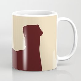 Doberman Dog  with dropping ears Silhouette Coffee Mug