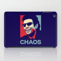 jurassic park iPad Cases featuring 'Chaos' Ian Malcolm (Jurassic Park) by Tabner's