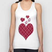 burgundy Tank Tops featuring Burgundy Pattern by Christina Rollo