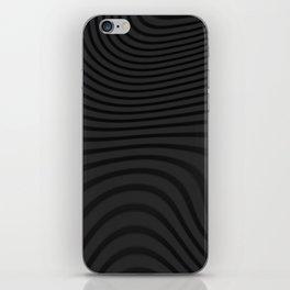 Organic Abstract 02 BLACK iPhone Skin