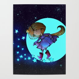 Walking in The Stars Poster