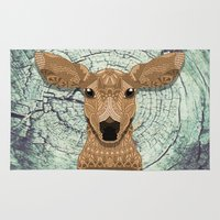 bambi Area & Throw Rugs featuring Bambi by ArtLovePassion