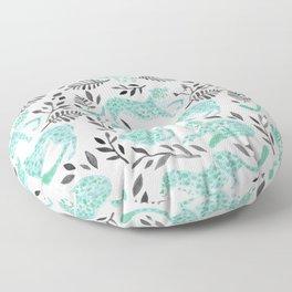 Cheetah Collection – Mint & Black Palette Floor Pillow