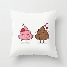 Love Sucks - Cute Doodles Throw Pillow
