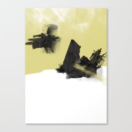 Yellow Symbiote Canvas Print