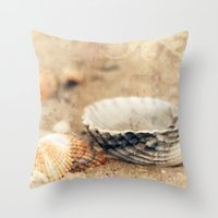 shells Throw Pillows featuring Shells by Joanna Pechmann