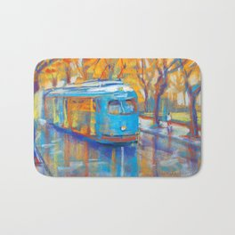 Blue Tram Bath Mat
