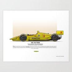 #8 LOLA - 1993 - T9300 - Fabi Art Print