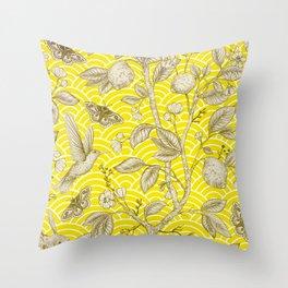 Lemons Pattern (yellow) Throw Pillow