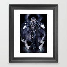 Cold flame Framed Art Print