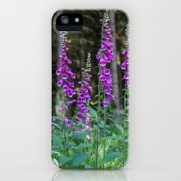 Woodland Foxgloves iPhone Case