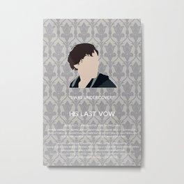 His Last Vow - Sherlock Holmes Metal Print