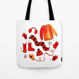 Baby It's Cold Outside - Winter Warmers Watercolor Tote Bag