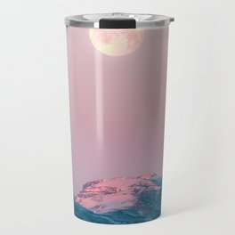 Moon and the Mountains – Landscape Photography Travel Mug