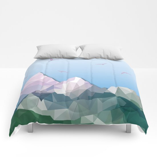 Night Mountains No. 35 Comforters