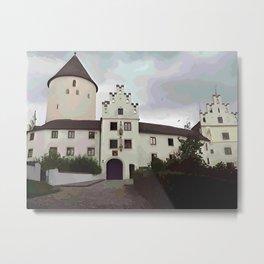 Schloss Kronwinkl in Niederbayern Metal Print