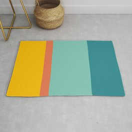 Retro Hot and Cold #retro #colors Rug