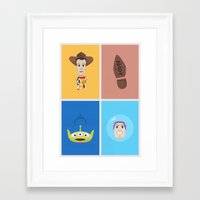 toy story Framed Art Prints featuring Toy Story by Al Power
