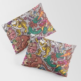 The Dragon with Owl Pillow Sham