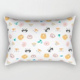 Animals Face Rectangular Pillow