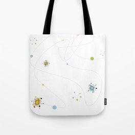 1950s / 1960s Mid Century Atomic Age Retro Pattern Tote Bag