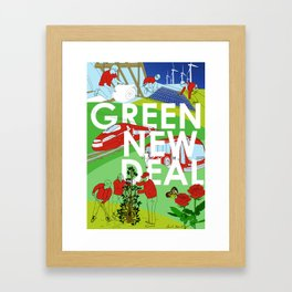 Green New Deal Framed Art Print