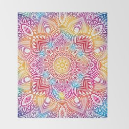Madala Ombre Colorful Throw Blanket