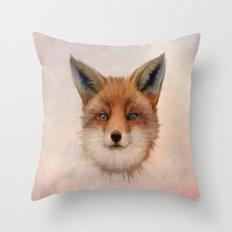 Vulpes vulpes - Red Fox Throw Pillow