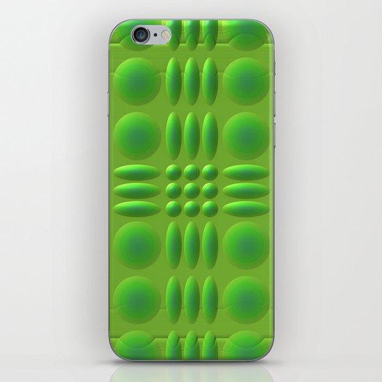 Puffy Green iPhone & iPod Skin