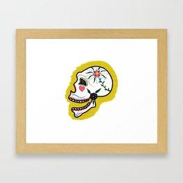 Smiling sugar skull Framed Art Print