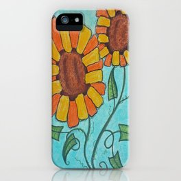 Rectangle Sunflowers iPhone Case