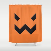 jack nicholson Shower Curtains featuring Jack by Aaron Johnson Design