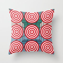 Shooting gallery with targets Throw Pillow