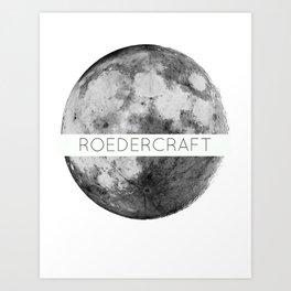 ROEDERcraft Moon Logo Art Print