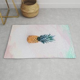 Pineapple on the beach Rug