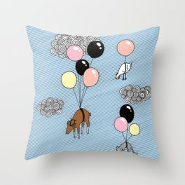 We´re flying Throw Pillow