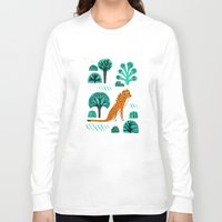 jaguar Long Sleeve T-shirts featuring  Jaguar by Hui_Yuan-Chang