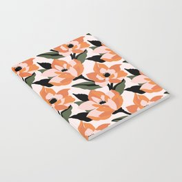 Bold orange poppy on a soft pink base Notebook