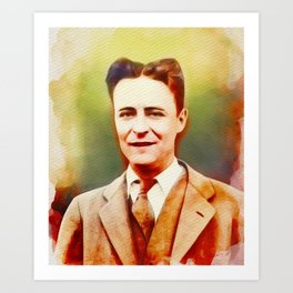 F. Scott Fitzgerald, Literary Legend Art Print