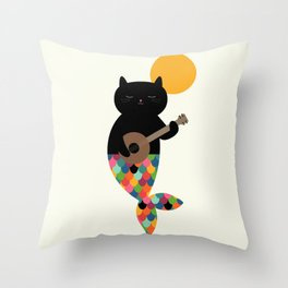 Purrmaid Throw Pillow