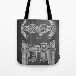 Starwars Tie Bomber Patent - Tie Bomber Art - Black Chalkboard Tote Bag