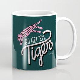 Go Get 'Em Tiger – Teal Coffee Mug